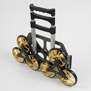 UpCart Stair Climbing All-Terrain Folding Cart folded side