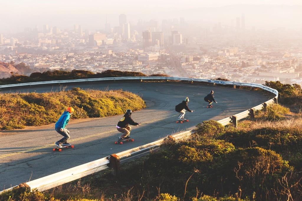 Boosted Dual+ 2000W Electric Skateboard cruising